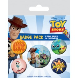 TOY STORY 4- pack 5 badges